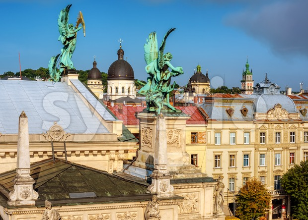 Old town of Lviv, Ukraine Stock Photo