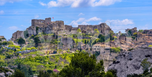 Les Baux-de-Provence village and castle, Provence, France Stock Photo