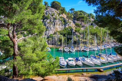 Calanque de Port Miou in Cassis, Provence, France Stock Photo