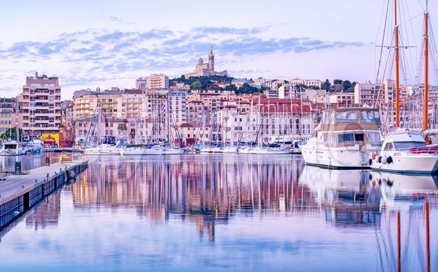 Marseilles city old port, Provence, France Stock Photo