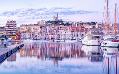 Marseilles city old port, Provence, France Stock Photo