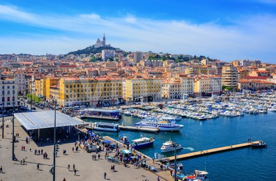 Marseille city center, Provence, France Stock Photo