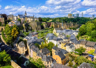 Luxembourg city, Grand Duchy of Luxembourg Stock Photo