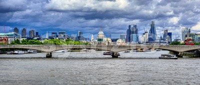 London city skyline, England, UK Stock Photo