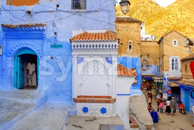Old town of Chefchaouen, Morocco Stock Photo