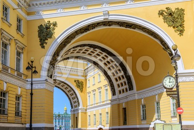 Archs leading to the Winter Palace, Sain Petersburg, Russia Stock Photo