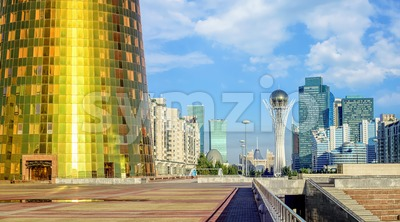 Nur-Sultan Astana modern skyline, Kazakhstan Stock Photo
