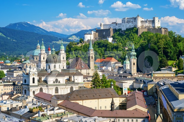Salzburg Old town and castle, Austria Stock Photo