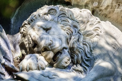 The Lion Monument in Lucerne, Switzerland Stock Photo