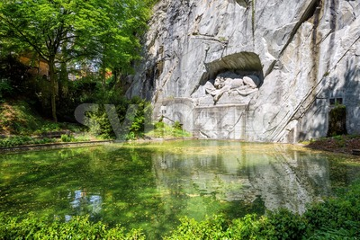 The Lion of Lucerne Monument, Switzerland Stock Photo