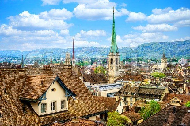 Zurich city Old town, Switzerland Stock Photo