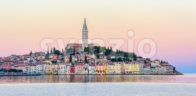 Rovinj Old town, Croatia, on sunset Stock Photo
