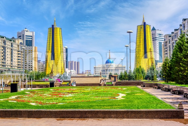 Nur-Sultan Astana city center, Kazakhstan Stock Photo
