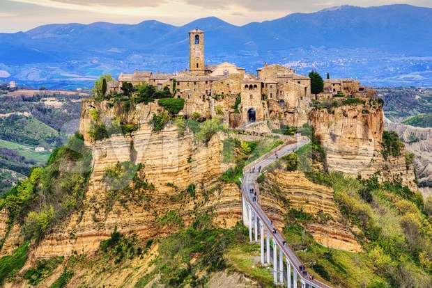 Civita di Bagnoregio, Viterbo, Italy Stock Photo