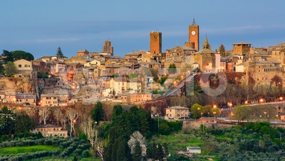 Orvieto medieval Old town, Italy Stock Photo