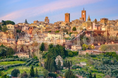 Orvieto historical hilltop Old town, Italy Stock Photo