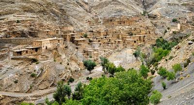 Bedouin town, Atlas mountains, Morocco Stock Photo