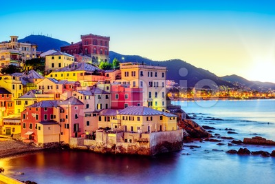 Boccadasse village in Genoa city, Italy Stock Photo