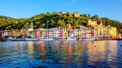 Portofino Old town, Ligury, Italy Stock Photo