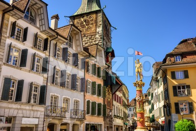 Solothurn city, Switzerland, historical Old town center Stock Photo