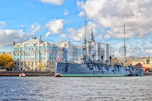 Aurora Cruiser, St Petersburg, Russia Stock Photo