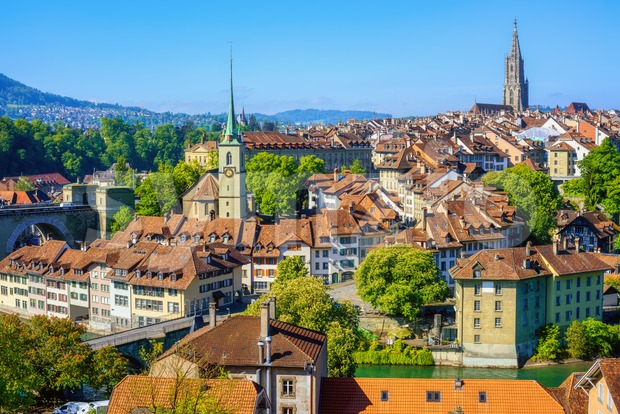 Bern city, the capital of Switzerland Stock Photo