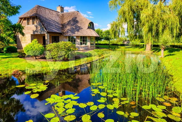 Giethoorn village, Netherlands, known as Dutch Venice Stock Photo