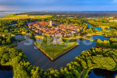 Naarden, a fortified walled city in Netherlands Stock Photo