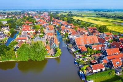 De Rijp polder village, Northern Holland, Netherlands Stock Photo