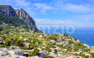 Capri island landscape, Naples, Italy Stock Photo