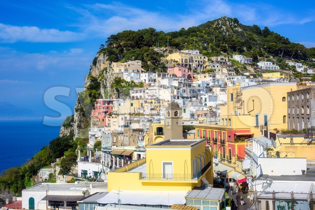 Capri Old town, Capri island, Italy Stock Photo