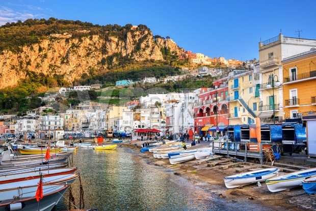 Capri town and his harbour, Naples, Italy Stock Photo