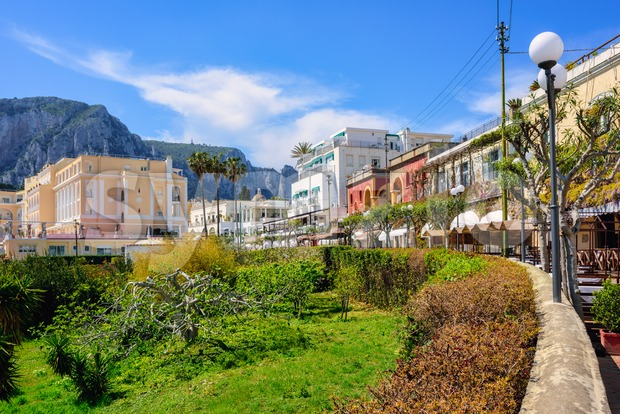 Capri town center, Capri island, Naples, Italy