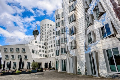 Dusselfdorf Hafen, Germany, the modern business district Stock Photo