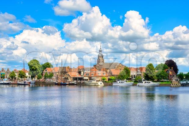 Blokzijl town, Overijssel province, Netherlands Stock Photo