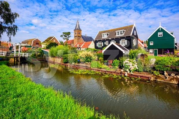 Marken village, North Holland, Netherlands Stock Photo