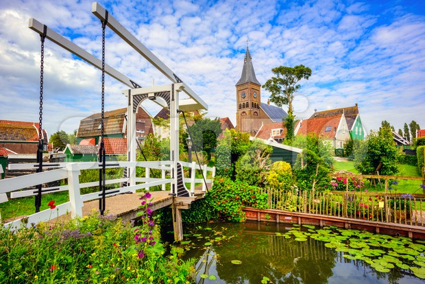 Marken village, Northern Holland, Netherlands Stock Photo