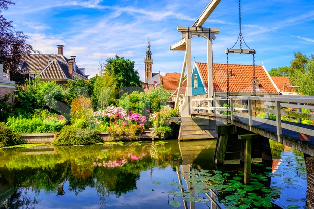 Edam town in North Holland, Netherlands Stock Photo