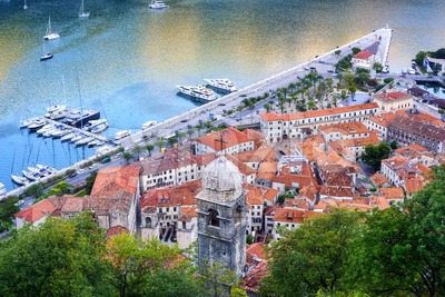 Kotor Old town in Kotor bay, Montenegro Stock Photo