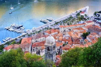 Kotor Old town in Kotor bay, Montenegro Stock Photo