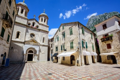 Historical Kotor Old town, Montenegro Stock Photo