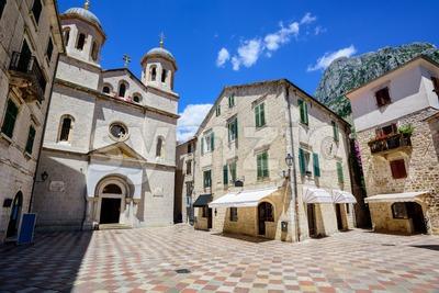 Historical Kotor Old town, Montenegro Stock Photo