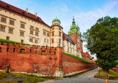 Wawel castle in Krakow, Poland Stock Photo
