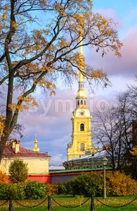 Saints Peter and Paul Fortress, St Petersburg, Russia Stock Photo