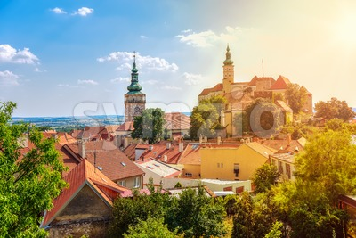 Mikulov castle, Moravia, Czech Republic Stock Photo