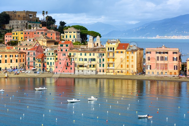 Sestri Levante resort town in Liguria, Italy Stock Photo
