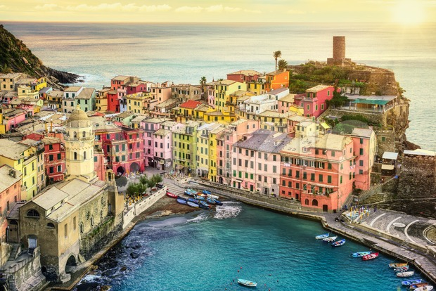 Vernazza village in Cinque Terre, Italy Stock Photo