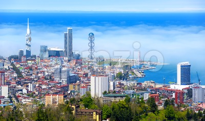 Batumi city on Black sea coast, Georgia Stock Photo