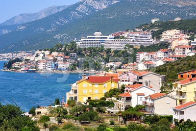 Neum resort city on Adriatic sea, Bosnia Stock Photo