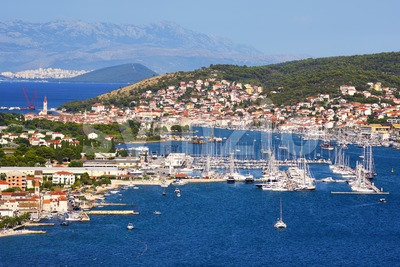 Trogir town and port, Adriatic sea, Croatia Stock Photo